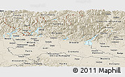 Shaded Relief Panoramic Map of Lombardia