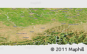Satellite Panoramic Map of Pavia