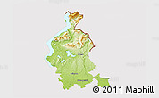 Physical 3D Map of Varese, cropped outside