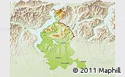 Physical 3D Map of Varese, lighten