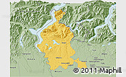 Savanna Style 3D Map of Varese