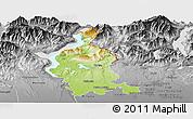 Physical Panoramic Map of Varese, desaturated