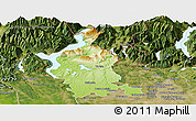 Physical Panoramic Map of Varese, satellite outside