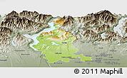 Physical Panoramic Map of Varese, semi-desaturated
