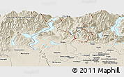 Shaded Relief Panoramic Map of Varese