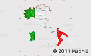 Flag Map of Italy, flag centered