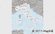Gray Map of Italy