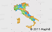 Political Map of Italy, cropped outside