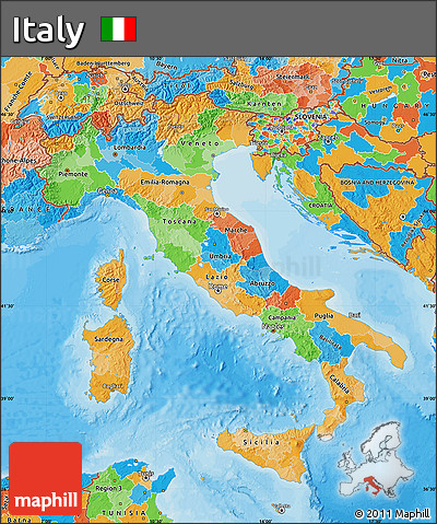 Free Political Map Of Italy - Political map of italy
