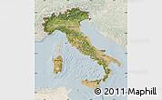 Satellite Map of Italy, lighten