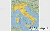 Savanna Style Map of Italy