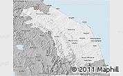 Gray 3D Map of Marche