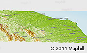 Physical Panoramic Map of Ancona
