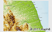 Physical 3D Map of Ascoli Piceno