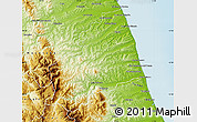 Physical Map of Ascoli Piceno