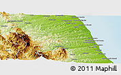 Physical Panoramic Map of Ascoli Piceno
