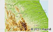 Physical 3D Map of Macerata
