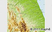 Physical Map of Macerata
