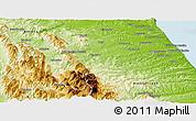 Physical Panoramic Map of Macerata