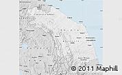 Silver Style Map of Marche