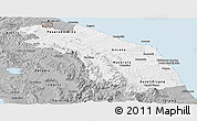 Gray Panoramic Map of Marche
