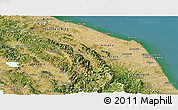 Satellite Panoramic Map of Marche