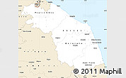 Classic Style Simple Map of Marche