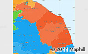 Political Shades Simple Map of Marche