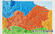 Political Shades 3D Map of Molise
