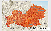 Political Shades 3D Map of Molise, shaded relief outside