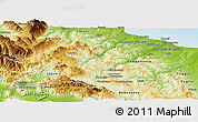 Physical Panoramic Map of Molise