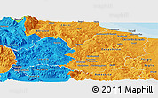 Political Panoramic Map of Molise