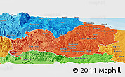 Political Shades Panoramic Map of Molise