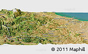 Satellite Panoramic Map of Molise