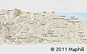 Shaded Relief Panoramic Map of Molise