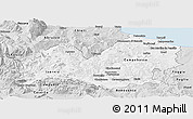 Silver Style Panoramic Map of Molise