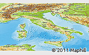 Physical Panoramic Map of Italy