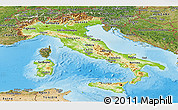 Physical Panoramic Map of Italy, satellite outside, shaded relief sea