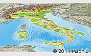 Physical Panoramic Map of Italy, semi-desaturated, land only