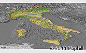 Satellite Panoramic Map of Italy, desaturated