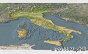 Satellite Panoramic Map of Italy, semi-desaturated