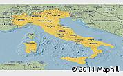 Savanna Style Panoramic Map of Italy