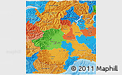 Political 3D Map of Piemonte