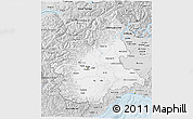 Silver Style 3D Map of Piemonte