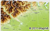 Physical 3D Map of Biella