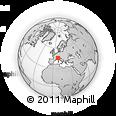 Outline Map of Biella