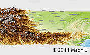 Physical Panoramic Map of Cuneo