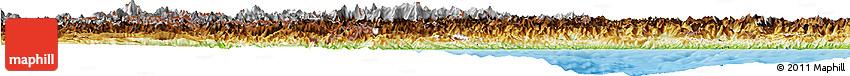 Physical Horizon Map of Piemonte