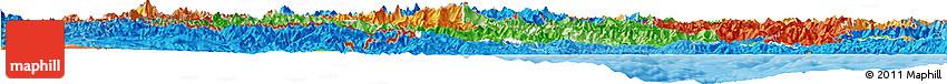 Political Shades Horizon Map of Piemonte