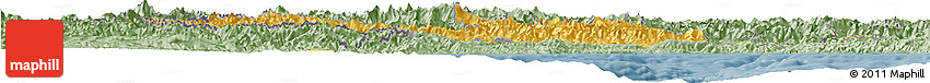Savanna Style Horizon Map of Piemonte